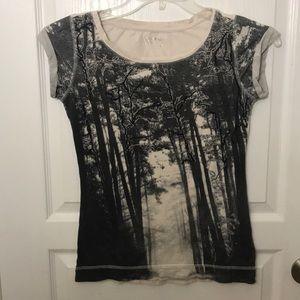 Calvin Klein Beaded Dark Tree Print Short Sleeve